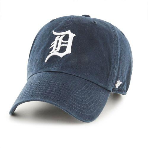 MLB Detroit Tigers '47 Brand Navy Basic Logo Clean Up Home Adjustable Hat