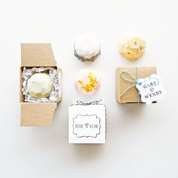 Custom Jewel Soap Favours - Boxed and Personalised