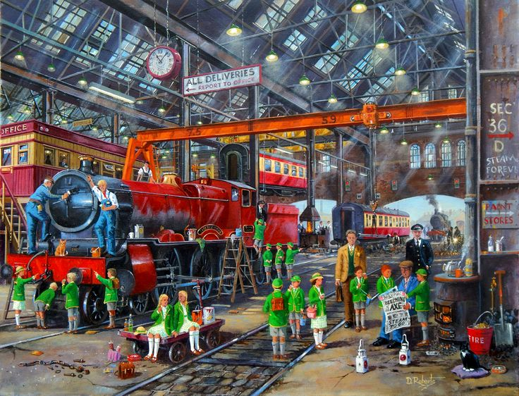 A visit to the railway workshops