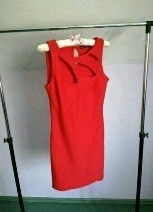 Kup mój przedmiot na #vintedpl http://www.vinted.pl/damska-odziez/dlugie-sukienki/16705448-czerwona-sukienka-z-wycieciani-modna