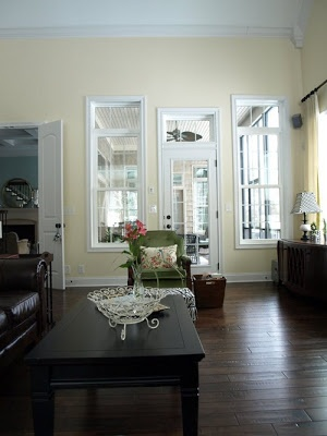 Perfect sunlit neutral creamy yellow!  No more builder beige!  Less-Than-Perfect Life of Bliss: The Sunny Side of Neutral