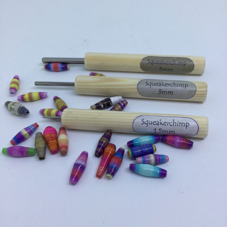 Paper Bead Roller Set, Paper Bead Tool Set, Paper Bead, 1.5mm, 3mm, 5mm, Bead Tool, Beads, Jewelry Making, Bead Making, Eco Crafts by Squeakerchimp on Etsy https://www.etsy.com/uk/listing/489581764/paper-bead-roller-set-paper-bead-tool