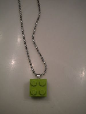DIY Lego necklace. Oh what cute favors for Lego bd party.