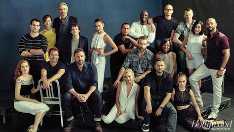 Good and evil collided at The Hollywood Reporter's exclusive Comic-Con photo shoot with the directors and stars of Warner Bros.' upcoming DC Comics adaptations.