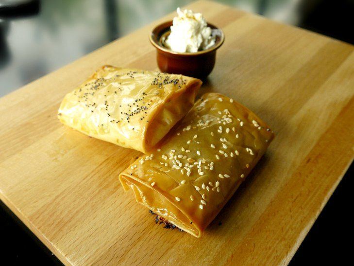 Pastirma or pastırma pie -Πιτάκια με παστουρμά