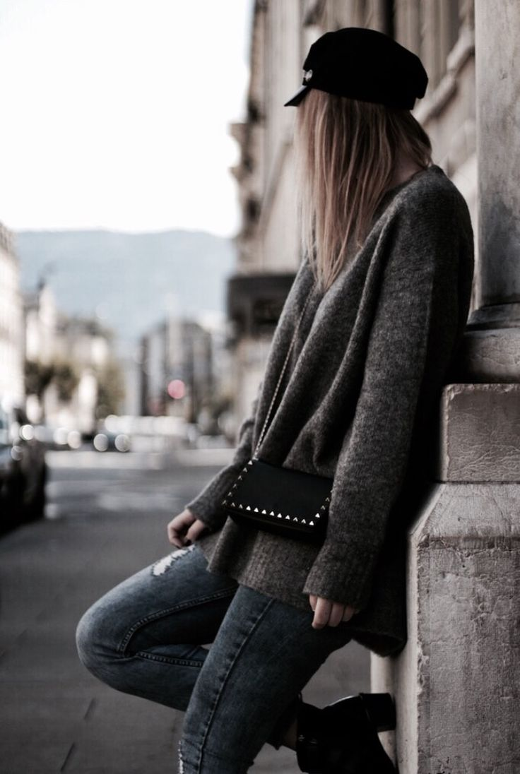 Fall outfit #ootd #fall #fashion #grey
