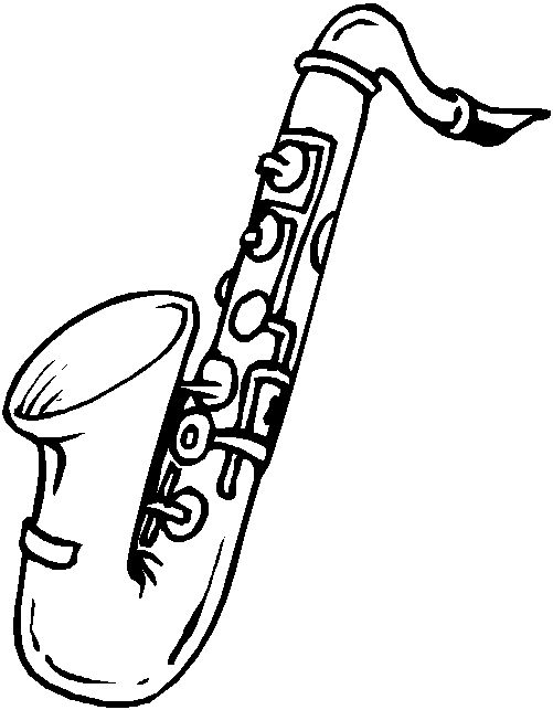 saxophone Colouring Pages (page 2) - ClipArt Best - ClipArt Best
