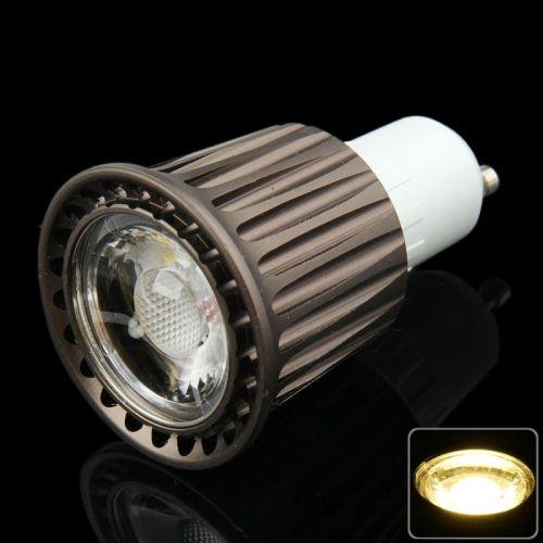 [$3.62] GU10 7W Warm White COB LED Spotlight Bulb, AC 85-265V