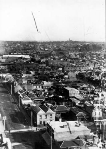 View of Collingwood looking southwest from the town hall 1890s Melbourne Australia