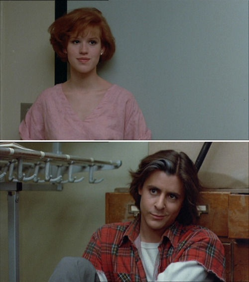 <3 Bender and Claire in The Breakfast Club (Judd Nelson and Molly Ringwald). My gosh, I love these two.