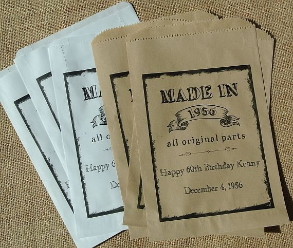 Adult Birthday Party Favors | Favors Bags | 60th Birthday Ideas | by abbey and izzie designs