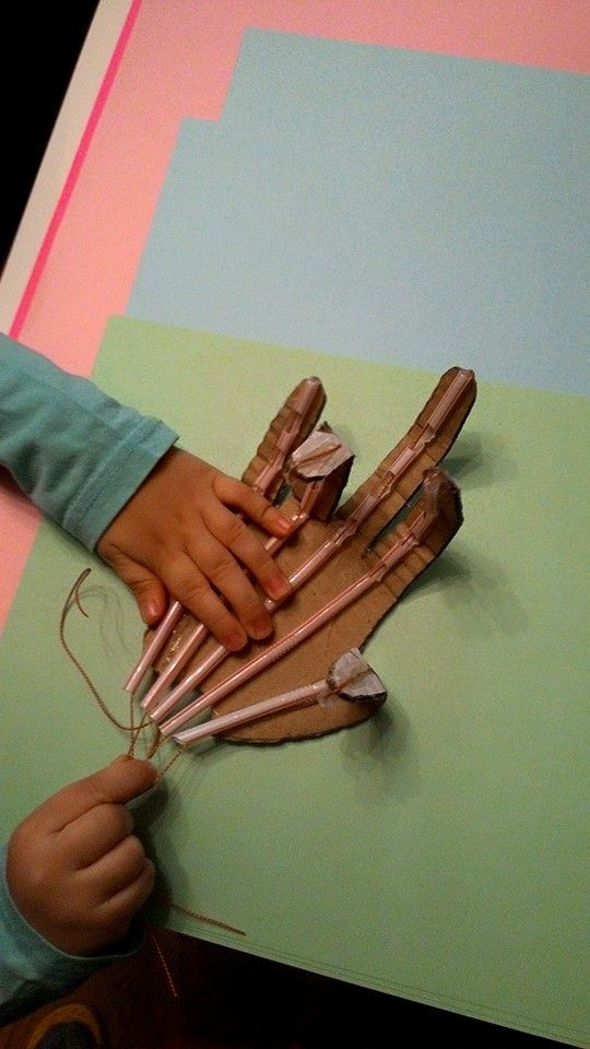 A Model Robotic Hand made out cardboard and straws. l ve got the instructions  from http://www.aclassofone.blogspot.com.tr/2013/12/apologia-anatomy-physiology-unit-three.html