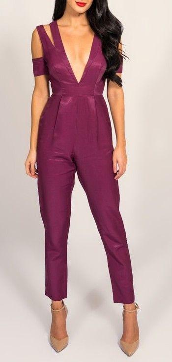 Purple Bridesmaid Jumpsuits