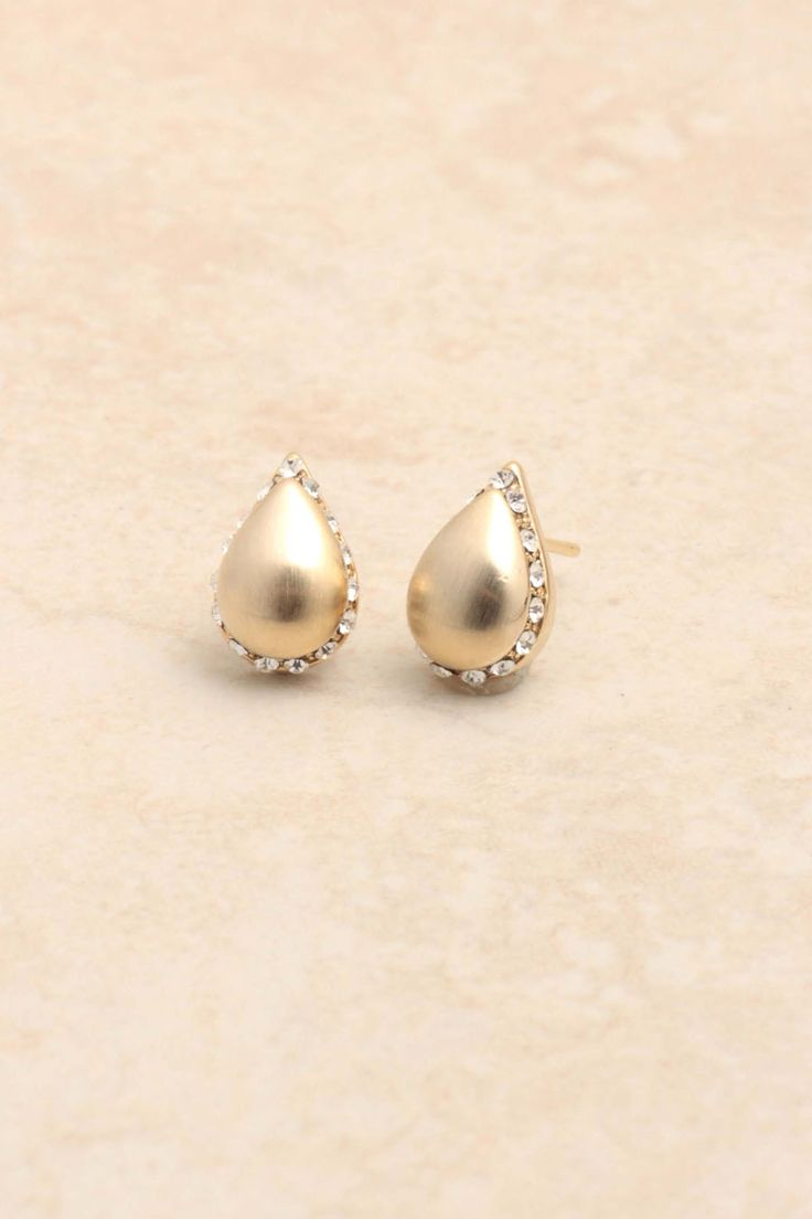 Brushed Gold Crystal Teardrops: Buy Earrings, Gold Crystals, Crystals Teardrop Oh, Brushes Gold, Teardrop 25, Fashion Jewelry, Fashion Fabrics, Jewelry Earrings, Earrings Online