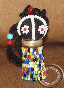 African Ndebele Rasta Doll Beaded Fridge Magnet. I want one of these!!!!