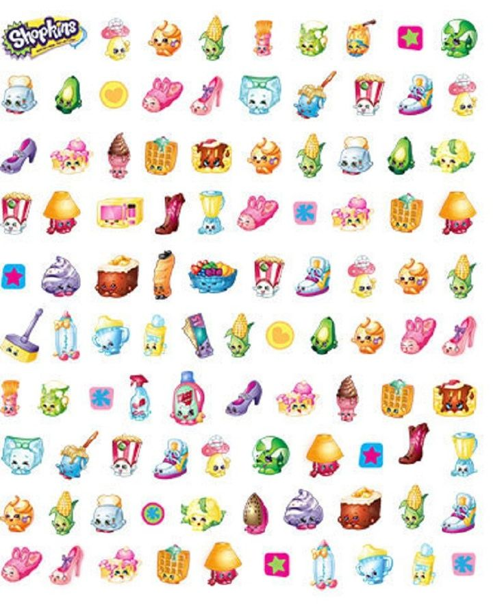 Shopkins Cartoon Characters Confetti Stickers, Pack of 100 ...