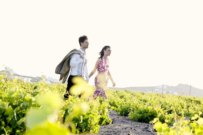 Wander around the blessed vineyards of #Santorini, and enjoy the wine scents at their source! (See more at http://www.gastronomysantorini.com and http://www.winetourssantorini.com)