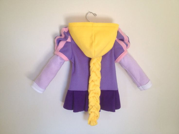 Disney Princess Tangled Inspired Rapunzel Fleece Girls hoodie shirt by MagicPrincessWhitney on Etsy