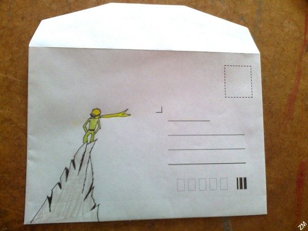 Malý princ - Mail art (The Little Prince - original title: Le Petit Prince) by Antoine de Saint-Exupéry