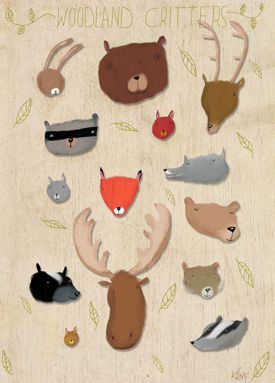 Critters Art Print