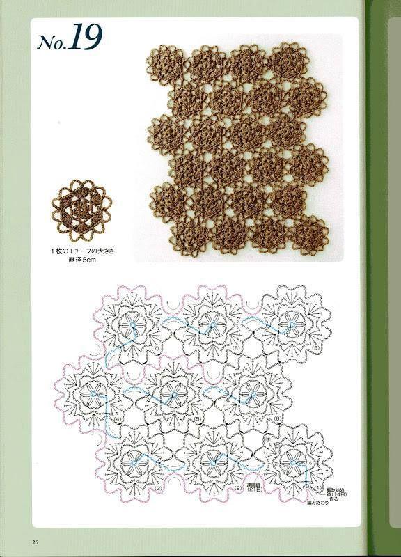 60 Gambar Pola Rajutan Bunga Cantik dan Sederhana Yang Bisa Anda Buat