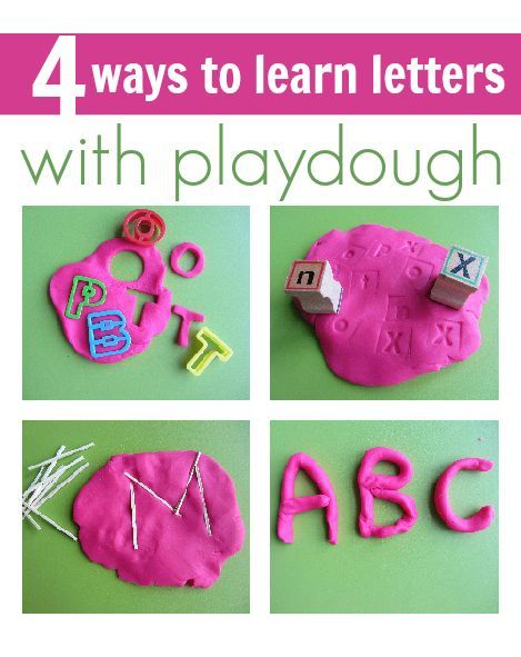 4 fun ways to use play dough to teach your preschooler letter recognition (a first step in early literacy!):