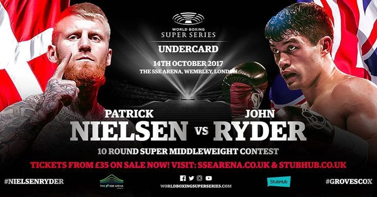 Danish super middleweight star Patrick Nielsen (29-1, 14 KOs) will meet London's John Ryder (24-4, 12 KOs, 15 KOs) over ten rounds on the undercard of the World Boxing Super Series quarter-final contest between 'Saint' George Groves and Jamie Cox on October 14 at The SSE Arena, Wembley in London. . . #behindthegloves #boxingnews #heyfightfans #boxing #WBSS #Worldboxingsuperseries #NielsenRyder #instaboxing #sports #london