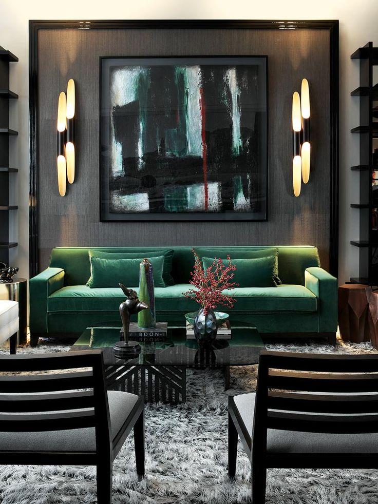 plush green & modern lines | via High-Impact Design ~ Cityhaüs Design