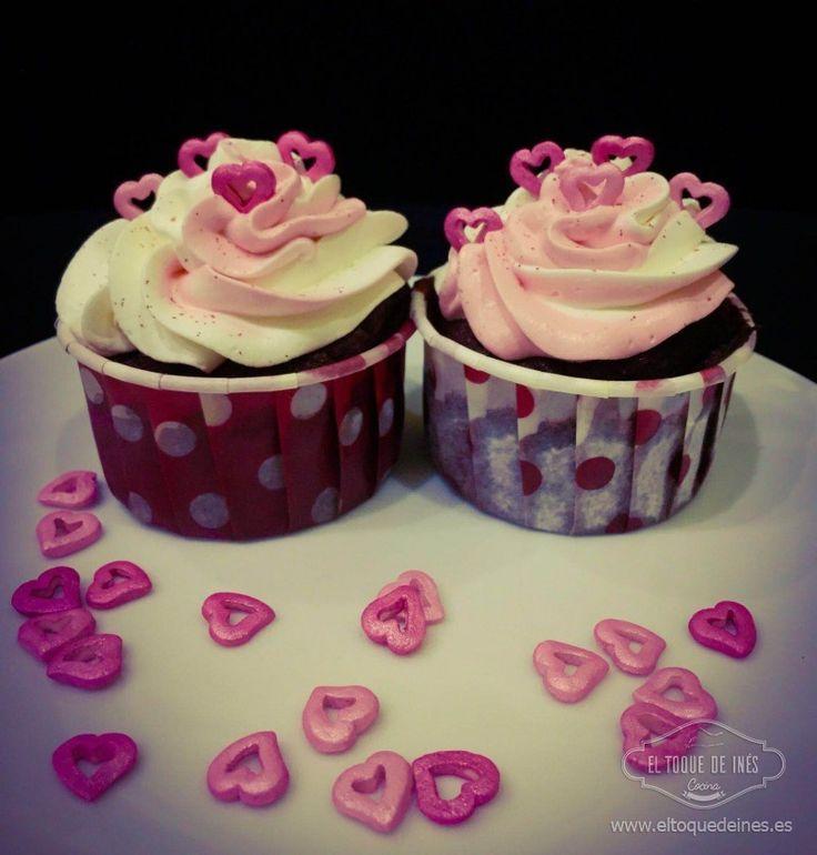 14 de febrero día de los enamorados, pues estos cupcakes de San Valentín son perfectos para disfrutar o regalar, quedan preciosos y son fáciles de hacer.