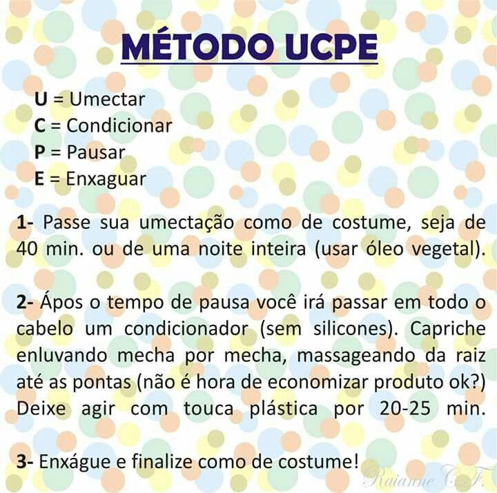 Método UCPE | Umectação