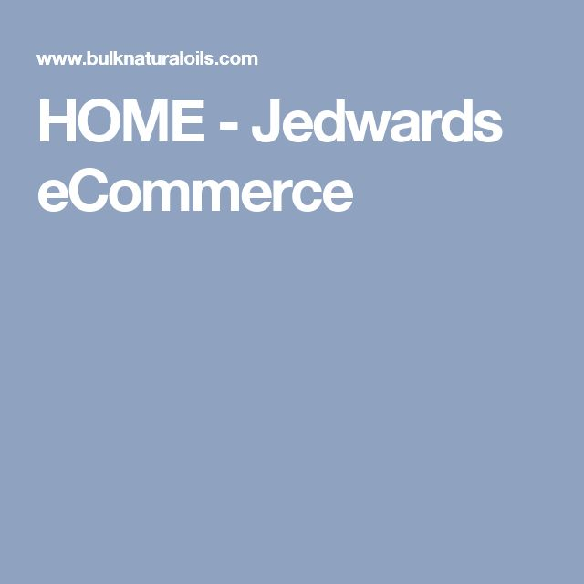 HOME - Jedwards eCommerce