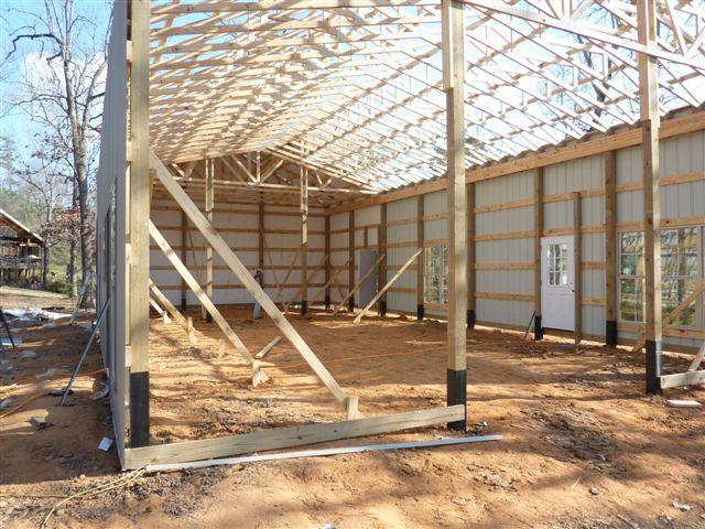 How One Man Built His Pole Barn House The Roof Sleeve