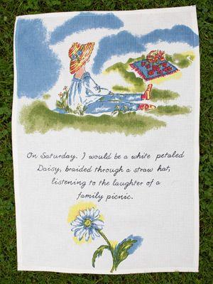 Saturday Tea Towel | April's Attic Sale, Linens & Kitchen Attic :Beautiful Designs by April Cornell