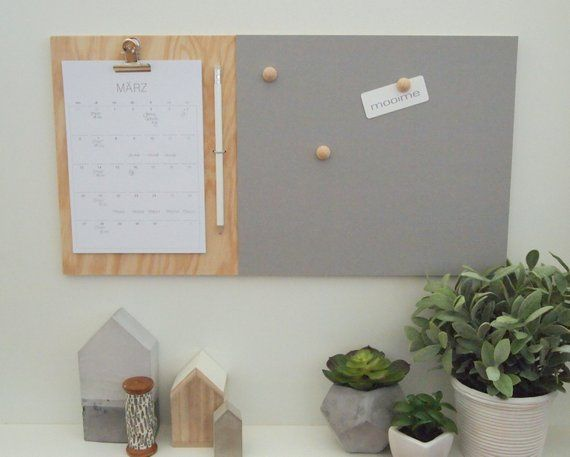 Mimemo Memo Board With Notepad Or Calendar Pinboard Magnetic
