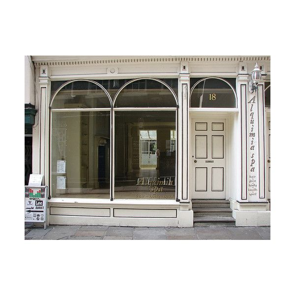 Empty shop window Art Boxer Creative SoakitUp ❤ liked on Polyvore featuring home, home decor, backgrounds and window display