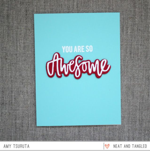 Card Making Ideas 2016 Part - 33: Neat And Tangled: May 2016 Release Day 2: Awesome + Fractal Cloud +  Giveaway. Card Making ...