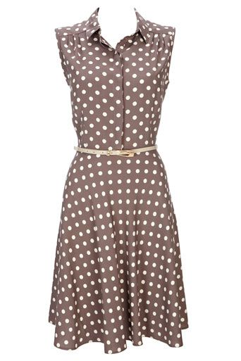 Taupe spot shirt dressDots Shirts, Taupe Spots, Fashion, Pretty Woman, Polka Dots Dresses Taupe, Style, Taupe Dots, Shirts Dresses, Spots Shirts