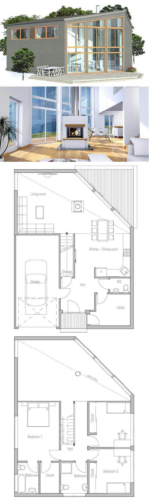 Oltre 25 fantastiche idee su planimetrie di case su for 3 piani di garage per auto con stanza bonus