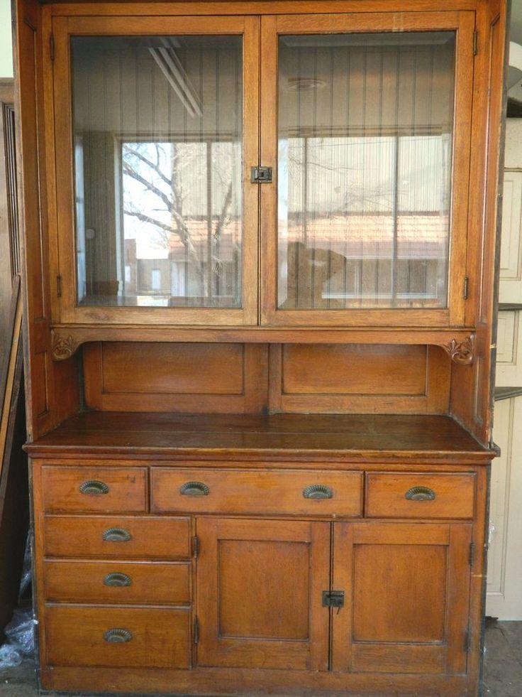 Antique Buffet Victorian Sideboard Built In Buffet
