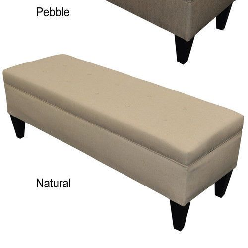sole designs brooke upholstered storage bench ebay in natural and pebble but