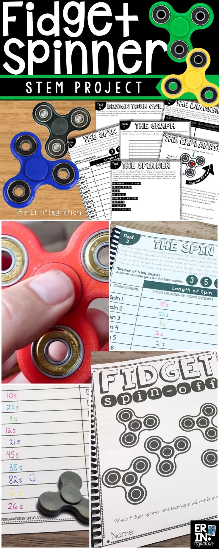 Which fidget spinners spin the longest? Use this complete STEM Challenge to investigate fidget spinners in the classroom.