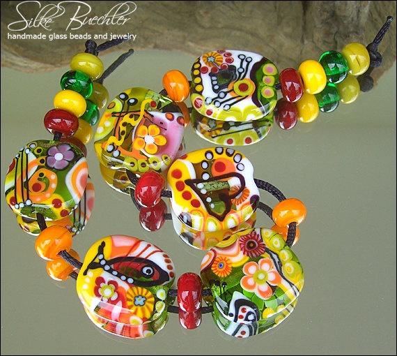 19 handmade lampwork beads sra glass calypsos beads