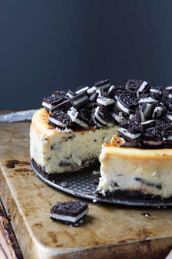 Layers of cookies, cream, and chocolatey bits make for a luscious OREO Cheesecake you can't resist.