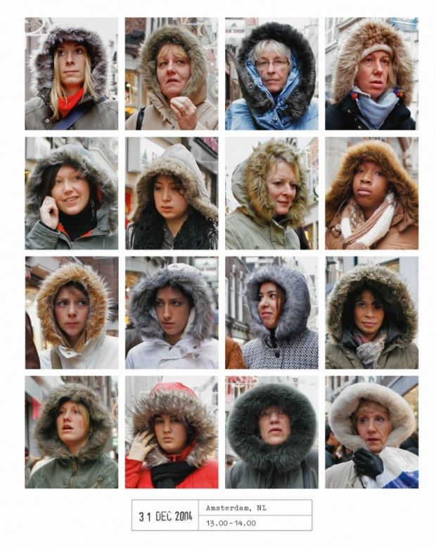 Furry hoods in Amsterdam. From Hans Eijkelboom's People of the Twenty-First Century