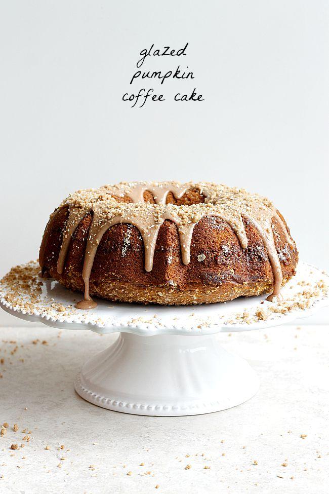 glazed pumpkin coffee cake