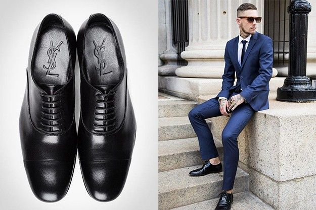 Groom Outfit // Matching Dress Shoes With Suits // black shoes and blue suit // Man Fashion
