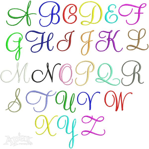 199 Best Script Embroidery Fonts Images On Pinterest Embroidery