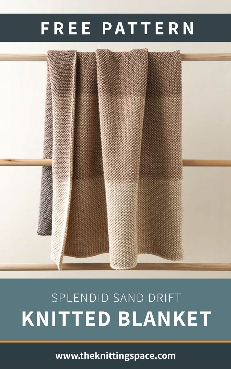 Tonal Blanket Free Knitting Pattern By Purl Soho