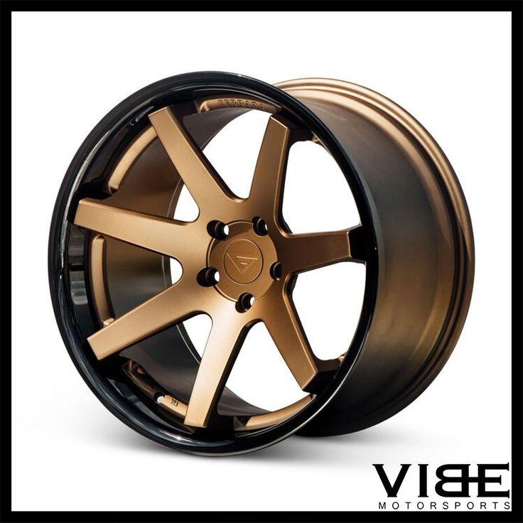 """20"""" FERRADA FR1 BRONZE CONCAVE WHEELS RIMS FITS JAGUAR XFR #Ferrada #fr1 #wheels #concave #jaguar #xfr #vibemotorsports"""