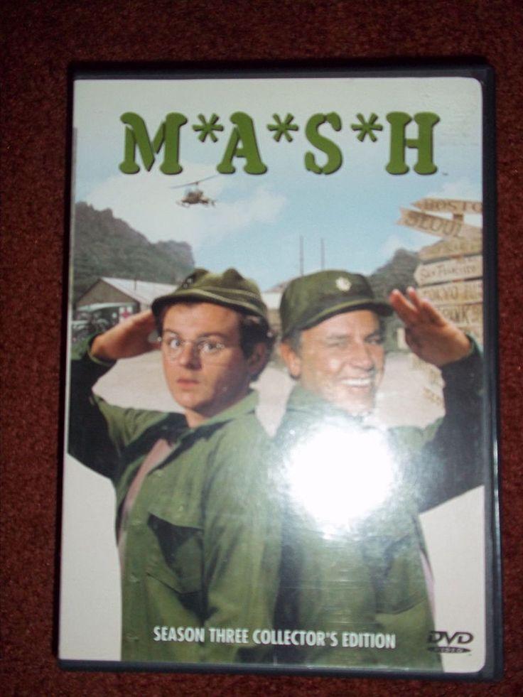 MASH DVD Season 3 Alan Alda Wayne Rogers McLean Stevenson Loretta Swit Burghoff